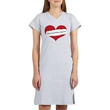 Red Heart Contemporary Women's Nightshirt
