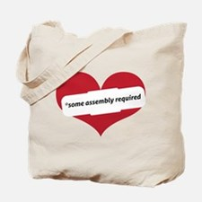 Red Heart Contemporary Tote Bag
