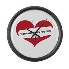 Red Heart Contemporary Large Wall Clock