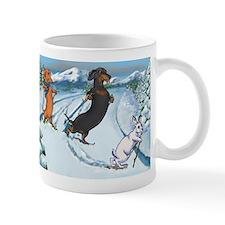 Ski Dachshunds Mug
