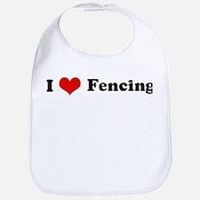 I Love Fencing Bib