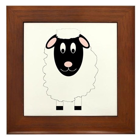 Sheep Design Framed Tile