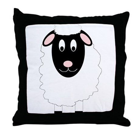 Sheep Design Throw Pillow