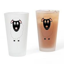 Sheep Design Drinking Glass