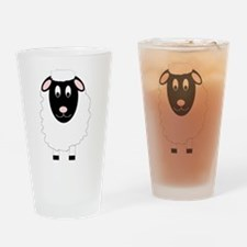 Sheep Design Drinking Glass