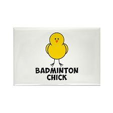 Badminton Chick Rectangle Magnet