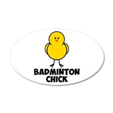 Badminton Chick 22x14 Oval Wall Peel