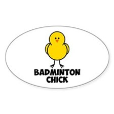 Badminton Chick Decal