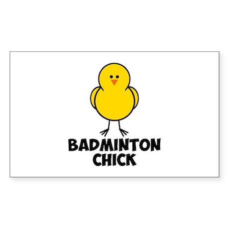 Badminton Chick Sticker (Rectangle 50 pk)