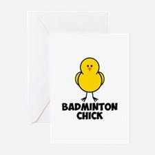 Badminton Chick Greeting Cards (Pk of 10)