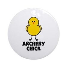 Archery Chick Ornament (Round)