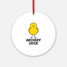 Archery Chick Ornament (Round)