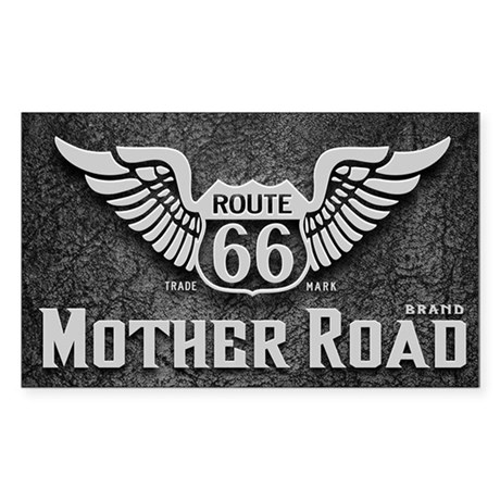 Mother Road - Route 66 Sticker (Rectangle)