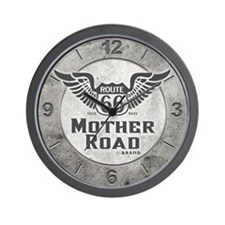 Mother Road - Route 66 Wall Clock