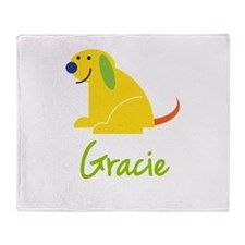 Gracie Loves Puppies Throw Blanket