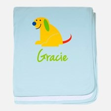 Gracie Loves Puppies baby blanket