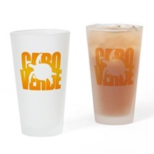 Cape Verde Turtle Orange Drinking Glass