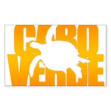 Cape Verde Turtle Orange Decal