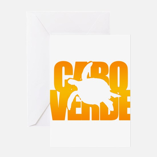 Cape Verde Turtle Orange Greeting Card