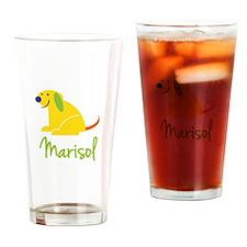 Marisol Loves Puppies Drinking Glass