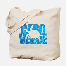 Cape Verde Turtle Blue Water Tote Bag