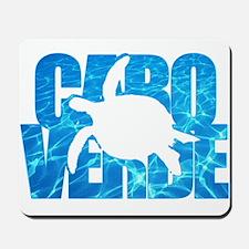 Cape Verde Turtle Blue Water Mousepad