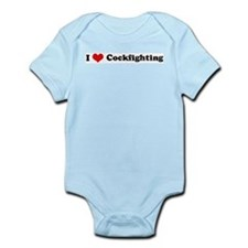 I Love Cockfighting Infant Creeper
