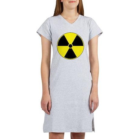 Yellow Radiation Symbol Women's Nightshirt