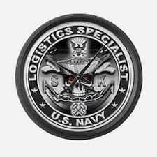 USN Logistics Specialist SK D Large Wall Clock