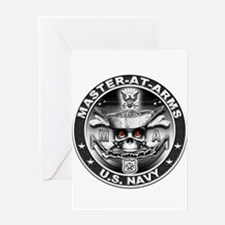 USN Master-At-Arms SkulMA Dol Greeting Card