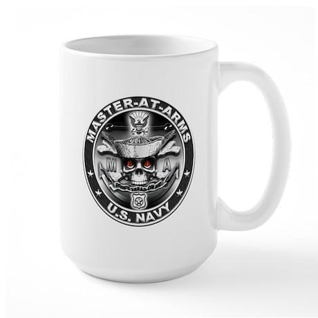 USN Master-At-Arms SkulMA Dol Large Mug
