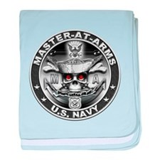 USN Master-At-Arms SkulMA Dol baby blanket