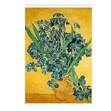 Irises in Vase Postcards (Package of 8)