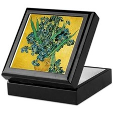 Irises in Vase Keepsake Box