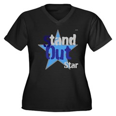 OYOOS Stand Out Star design Women's Plus Size V-Ne