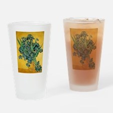 Irises in Vase Drinking Glass