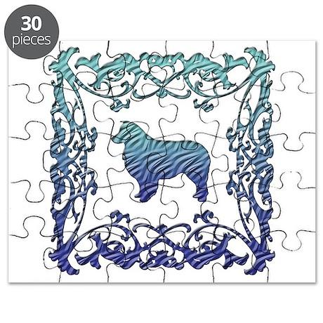 Australian Shepherd Dog Lattice Puzzle
