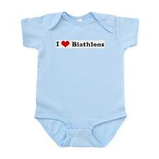 I Love Biathlons Infant Creeper