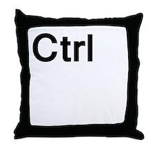 ctrl (control) Throw Pillow
