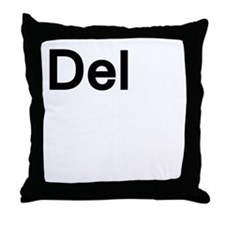 del (delete) Throw Pillow