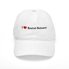 I Love Social Science Baseball Cap