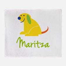 Maritza Loves Puppies Throw Blanket
