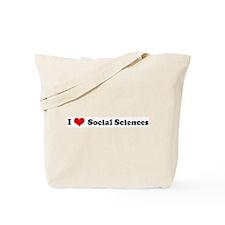 I Love Social Sciences Tote Bag