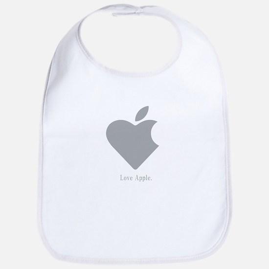 Love Apple Bib