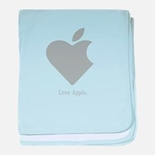 Love Apple baby blanket