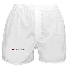 I Love Religious Studies Boxer Shorts