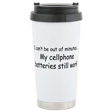 Out of Minutes Travel Coffee Mug