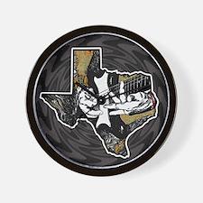Texas Guitar Wall Clock