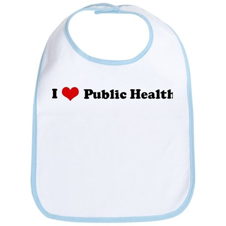 I Love Public Health Bib