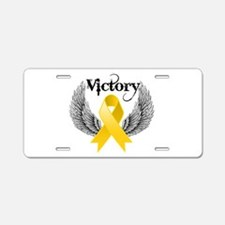 Victory Childhood Cancer Aluminum License Plate